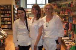 Fränkische Bäuerinnen kochten am 19.04.2013 in der Buchhandlung Hübscher